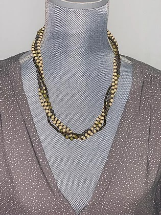 4-strand beaded necklace
